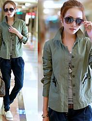 VINTAGE Contrast Color Short Jacket