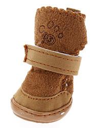 Sapatos Suaves com Velcro para Cachorros (Várias Cores, XS-XL, 4pçs)