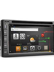 androide 6,2 pulgadas de coches reproductor de DVD con GPS, TDT, wifi y acceso a Internet 3G