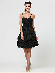 Wedding Party / Homecoming / Cocktail Party / Prom Dress - Black Petite A-line / Princess Sweetheart / Strapless / Spaghetti Straps