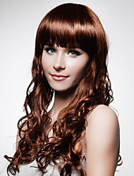 Capless Extra Long Top Grade Quality Synthetic Coffee Curly Hair Wig