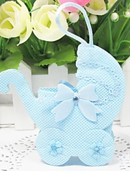 Lovely Baby Pram Shape Favors Bags - Set of 12 (More Colors)