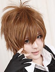 Cosplay Wigs Reborn! Tsunayoshi Sawada Brown Short Anime Cosplay Wigs 30 CM Heat Resistant Fiber Male