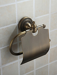 Porte Papier Toilette Bronze Antique Fixation Murale 18*13.5*7.5 Laiton Antique