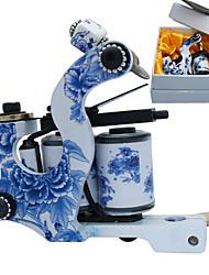 Bleu et Blanc Porcelaine Coil machine Tatoo Gun pour la doublure et l'ombrage