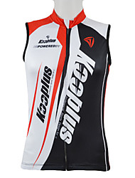 Kooplus Cycling Jersey Men's Sleeveless Bike Vest/Gilet Jersey Tops Quick Dry Front Zipper Wearable Breathable 100% PolyesterPatchwork