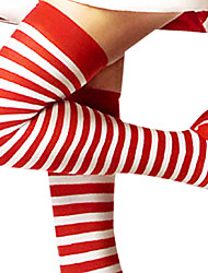Cute Striped Red and White  Christmas Stockings(1 Pieces)