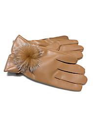 """Luvas de pele de coelho de pulso das senhoras Comprimento de inverno """"(mais cores)"""
