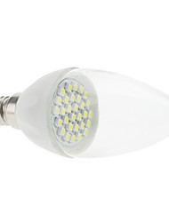 E14 2W 30x3528 SMD 180-210LM 6000-6500K Natural White Light LED Candle Bulb (85-265V)