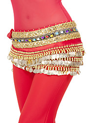 Performance Dancewear 248 coins Polyester Belly Dance Belt For Ladies More Colors