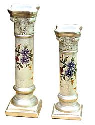 2 шт Country Style Ручная роспись керамических Свеча владельца
