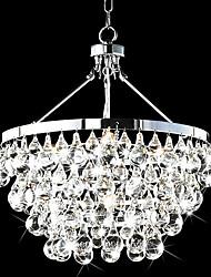 40W E14 Canopy metallo e paralume lampadario di cristallo