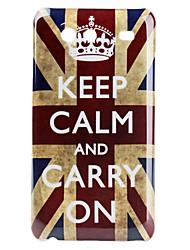 Crown British National Flag Pattern Hard Case für Samsung Galaxy S Advance I9070