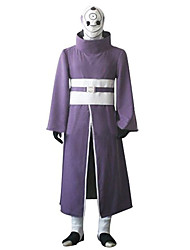Inspired by Naruto Madara Uchiha Anime Cosplay Costumes Cosplay Suits Patchwork Purple Long Sleeve Coat / Pants