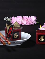 Азия Свечи сувениры Пьеса / Установить Свечи Не персонализированные Красный