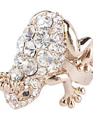 Bling Bling стиле горного хрусталя шипованных лягушка кольцо
