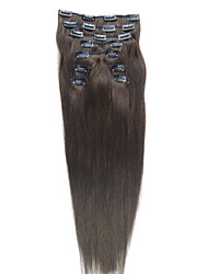 24 Inch 9 Pcs 100% Indian Hair Silky Straight Clip In Hair Extension 26 Colors to Choose