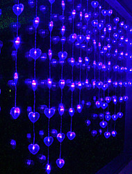 2.5Mx1.3M Blu Love Light String LED con 72 LED