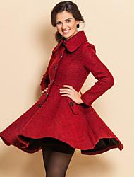 ts do vintage casaco de tweed ruffle lapela