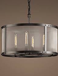 60W E27 4-light Pendent Light with Transparent Shade