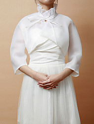 Wedding / Party/Evening Organza Coats/Jackets 3/4-Length Sleeve Wedding  Wraps