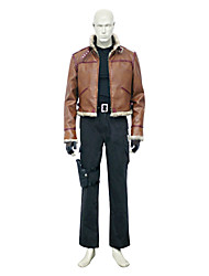 Inspired by Resident Evil Leon Scott Kennedy Video Game Cosplay Costumes Cosplay Suits Solid Brown Long SleeveCoat / Vest / Pants /