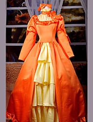 elizabeth robe orange costume de cosplay