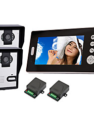 "KONX® 2.4GHz Wireless 7"" LCD Monitor Home Security Video Door Phone and Intercom System"