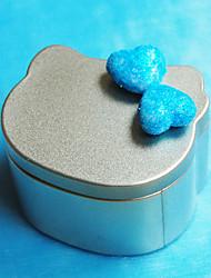 Cat Shape Metal Favor Tin With Hearts (Set of 12)