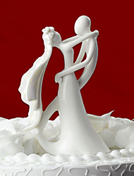 Cake Topper Classic Couple Ceramic Wedding / Bridal Shower White Classic Theme Gift Box