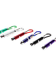 3-in-1 Red Laser + White Light + UV Light LED Mini Flashlight Keychain (3xLR44)
