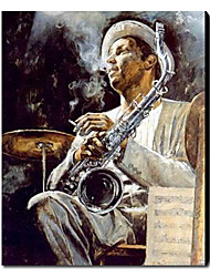 Hand Painted Oil Painting People Jazz Art 1211-PE0148