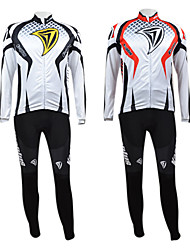 KOOPLUS Men's Cycling Suits Long Sleeve Bike Autumn / Winter Breathable / Quick Dry / Front Zipper Yellow / RedS / M / L / XL / XXL /