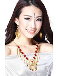 Performance Dancewear Legierung mit Red Gem Belly Dance Halskette für Damen