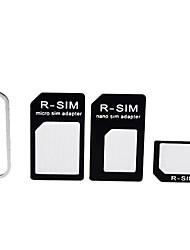 3-en-1 adaptateur de carte SIM et la broche d'éjection de l'iPhone 5, iPhone4 et 4S (couleurs assorties)