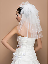 Five-tier Shoulder Wedding Veil With Cut Edge