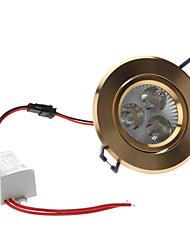 3W 300-330LM 5800-6300K Белый свет природного золота Обложка светодиодные потолочные лампы (85-265В)