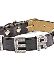 Adjustable Rhinestone Hero Style Collar for Dogs (Neck: 15-25cm/5.9-9.8inch)