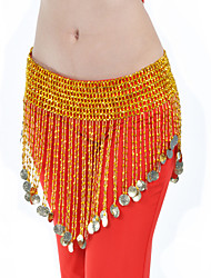 Belly Dance Belt Women's Training Polystyrene Coins Gold Belly Dance Spring, Fall, Winter, Summer