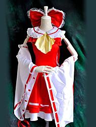 Вдохновлен Проект Тоухоу Reimu Hakurei видео Игра Косплэй костюмы Косплей Костюмы Пэчворк Красный Кофты