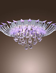 Flush Mount ,  Modern/Contemporary Others Feature for Crystal Glass Living Room Dining Room