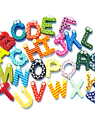 Wooden Colorful English Letters Fridge Magnet