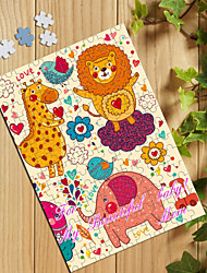Personalized Jigsaw Puzzle - Happy Animals