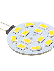 2w g4 led bi-pin luces 12 smd 5630 240 lm blanco cálido dc 12 v