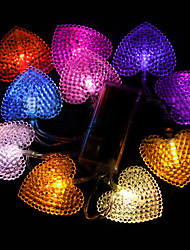 1,5 10 Heads Seven Colors Herz LED-String-Licht (Verwenden Batterie) - Weihnachten & Halloween Dekoration