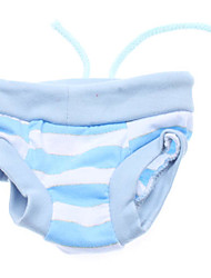 Réglables rayure lumineux Style Pantalon Strawberry sanitaires pour chiens (S-XL)