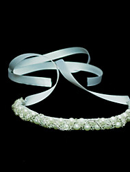 Women's Satin/Imitation Pearl Headpiece - Wedding/Special Occasion Headbands