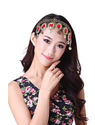 Performance Dancewear Alloy with Coins and Red Gems Belly Dance Headpieces For Ladies