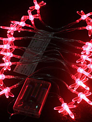 1.5M Red Dragonfly LED String Light con 10 LED (batteria uso)