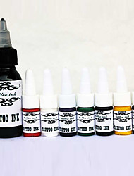 Top-Qualität Tattoofarbe Set 1 * 30 ml and7 * 5ml